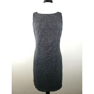 AGB Sheath Dress Chambray Tweed Linen/Cotton